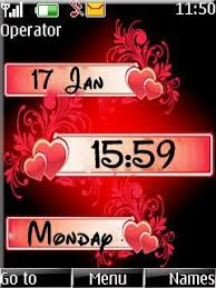 themes of java free download love clock theme for java app