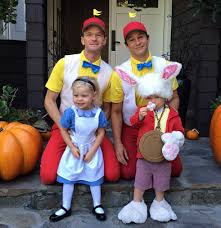 nph and david burtka u0027s family halloween costume theme is alice in