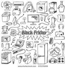 appliances black friday black friday household appliances hand drawn stock vector