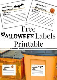 Free Halloween Printable Decorations Free Halloween Labels Printable Halloween Labels Storage Tubs