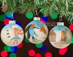navajo indian sand painted ornament set co18 mission