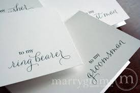 bridal card to my groomsman wedding day card thank you thin style