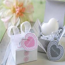 cheap wedding party favors creative heart shaped mini handmade soap with thank you card