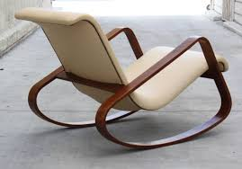 italy giuseppe pagano bentwood leather rocker for sale at 1stdibs