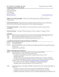 Airline Resume Sample by Air Force Flight Test Engineer Sample Resume