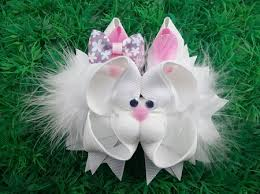 easter hair bows new easter bunny fur alligator ribbon sculpture hair