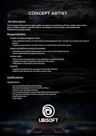 Concept Artist Resume Concept Artist Job Description Roleplaying Characters