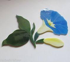 Garden Stone Craft - precut stained glass kit pansy flower mosaic inlay garden stone