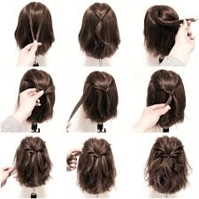 medium hair unique easy hairstyles for shoulder length hair for prom easy