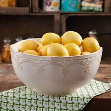 the pioneer farmhouse lace 10 linen serving bowl walmart