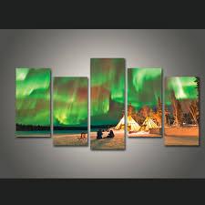 aliexpress com buy new 5 pieces sets canvas art colorful aurora