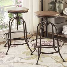 industrial farmhouse bar height kitchen table the throughout decor