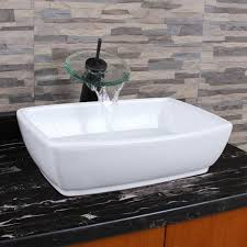 how big are sinks elimax s 302 unique rectangle shape white porcelain ceramic bathroom
