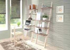 Distressed Black Bookcase Desk Ladder Style Computer Desk Black Bookcase Desk Combo