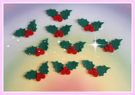 felt holly die cut christmas craft embellishments pinned by