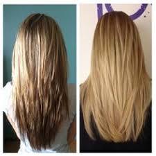 v layered haircut before and after pinning for when my hair