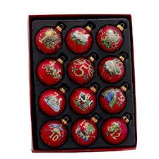 12 days of christmas ornaments kurt adler 12 12 days of christmas decorative