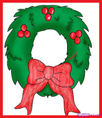 christmas reefs how to draw a simple christmas wreath step by step christmas