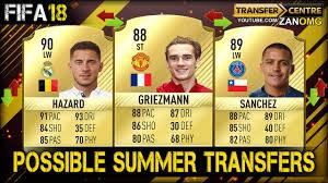 alexis sanchez youtube fifa 18 top 10 possible summer transfers prediction ft hazard