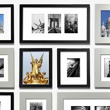Picture Wall Collage by Picturewall 1 Inch Black Frames Gallery Wall Made In America