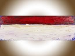 Original Home Decor Red Abstract By Qiqigallery 36