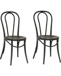 Black Metal Bistro Chairs Deals On Emery Metal Bistro Chair Matte Black Set Of 2 Threshold