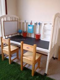 Baby Desk Turn A Baby Bed Into A Desk Or Kids Craft Table Life Hacking