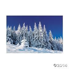 amazon com plastic winter scene backdrop banner home kitchen