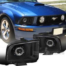 ebay mustang headlights 2005 2009 ford mustang black housing clear lens projector