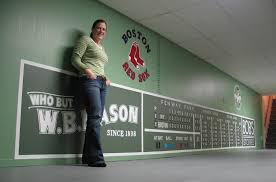 fenway park murals green monster murals by artist m c lamarre green monster wall murals wall murals are large sized scenic graphics which are affixed to your wall the murals have