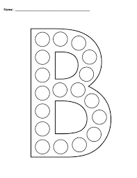 free letter b do a dot printables uppercase u0026 lowercase
