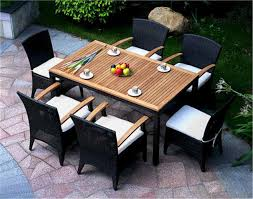 Teak Patio Table Stylish Rattan Outdoor Dining Set Bellagio Dining Set Table Chairs