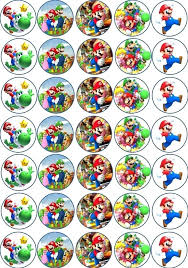 mario cake toppers mario bros edible cake toppers birthday cup fairy bun