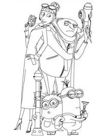 despicable eye minion coloring kids printable