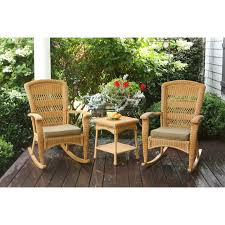 Rocker Cushions Sahara All Weather Wicker Rocking Chair Hayneedle