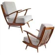 Mid Century Furniture Dutch Mid Century Modern Carved Armchairs By B Spuij U0027s B For
