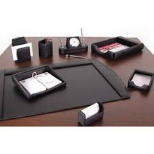 Executive Desk Organizer Accessories Furnishings Desk Accessories Leather Faux