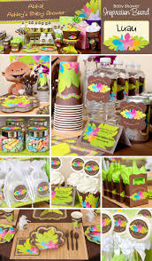 Luau Party Table Decorations Set Sail To The South Pacific With A Hawaiian Luau Party Theme