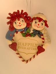 raggedy and andy happily after ornament raggedy