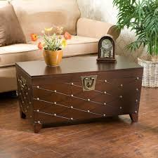 wooden storage trunk brown cocktail table with storage oval danish