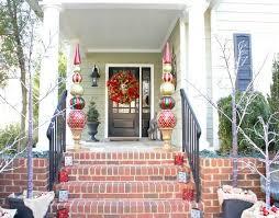 porch ornaments trendy ideas front porch christmas decorating