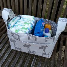 Nappy Organiser For Change Table Nappy Caddy Change Table Organiser Fabric Basket Nursery