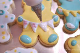 get your ducks in a row baby shower or easter theme cookies