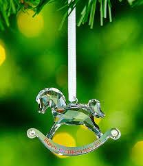 swarovski crystal baby u0027s first christmas ornament annual edition