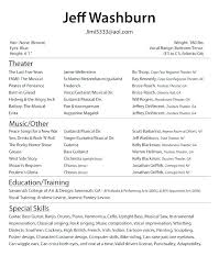 Inexperienced Resume Template by Technical Theatre Resume Template Collaborativenation