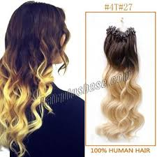 micro loop hair extensions inch ombre wave micro loop hair extensions two tone 100s