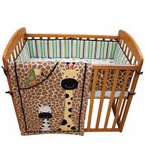 Small Crib Bedding Lambs Peek A Boo Jungle 3 Mini Crib Set