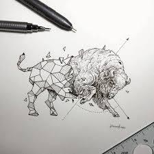 lovely half geometrical drawings of wild animals u2013 fubiz media