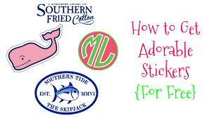 preppy decals southern tide 2 stickers southern tide