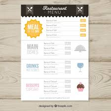 vintage restaurant menu template vector free download